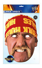 Hulk Hogan Official WWE 2D Card Party Face Mask Fancy Dress Up Wrestler