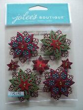 Ek success jolee's boutique feutre holly fleurs dimensionnelles stickers bnip