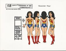 CHALLENGE Of The SUPER FRIENDS : WONDER WOMAN MODEL SHEET DC ALEX TOTH