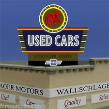 Miller's OK Used Cars  Animated Neon Sign O/HO Scale #5481 MILLER ENGINEERING