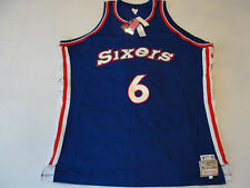 Mitchell & Ness 76ers Sixers Authentic Julius Erving Dr J  Blue #6 Jersey 60 M57