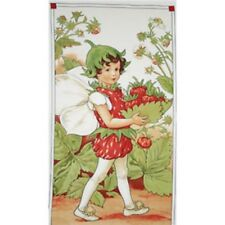 "Michael Miller Ceceily M Barker Strawberry Fairy Panel DC4278 24"" Cotton Fabric"