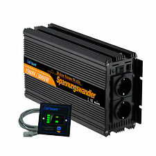 pure sine wave 12V - 240V 1500 3000 Watt power inverter with Remote Controller