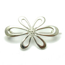 ARGENTO STERLING SPILLA SOLID 925 FIORE A000068 EMPRESS