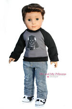 SPACE Shirt + Denim Jeans + Shoes Clothes for 18 inch American Girl Boy Doll