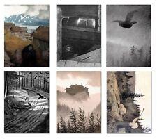 Theodor Kittelsen + + 6-Sticker-Set, din-a6 + + SATYRICON, Urfaust, MGLA + + NUOVO!!!