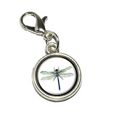Dragonfly - Antiqued Bracelet Pendant Zipper Pull Charm with Lobster Clasp