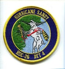 HSC-26 CHARGERS DET 4 HURRICANE SANDY US Navy Helicopter Squadron Cruise Patch