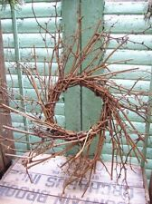 PRIMITIVE TWIG WREATH twiggy rustic great for windows cupboards *can be painted*