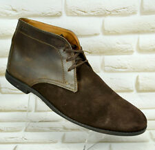 CLARKS Brown All Leather Mens Ankle Chelsea Boots Casual Shoe Size 10 UK 44.5 EU