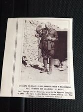74-4 Ephemera Ww1 1916 Picture Lord Denbigh With Pet Egypt