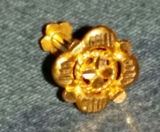 21 CT (KT) Gold Indian Ornate Flower Nose Piece (Nose Ring) Screw Type