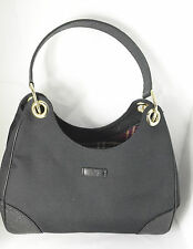 Authentic Gucci Black Canvas Hobo Bag W/Black Guccissima shoulder bag