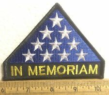 In Memoriam with Stars Embroidered Patch