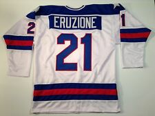 Mike Eruzione 1980 Miracle On Ice USA Hockey White UNSIGNED CUSTOM Jersey Sz XL