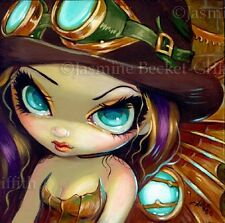 Fairy Face 117 Jasmine Becket-Griffith Fantasy Steampunk Witch SIGNED 6x6 PRINT