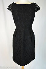 J.Crew Elsa Dress in Leavers Lace Size 10 A6005 Black Weddings and Parties