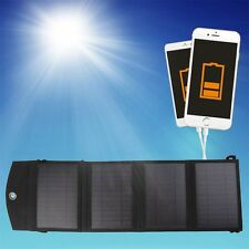 14W 4-Foldable Dual USB Solar Panel Battery Charger for Laptop PC Phone YS