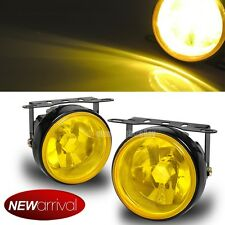 """For CRX CRV 3.5"""" Round Yellow Bumper Driving Fog Light Lamp + Switch & Harness"""