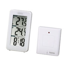 Radio Controlled Wireless Weather Station Clock Indoor Outdoor Temp EWS152