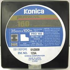 Konica 35mm x 100 Ft  Roll Professional 160 Color Pro Film NON-PERFORATED