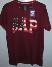 Z97:New $39.99 GAP Crew Le T-Shirt for Men-Small-Maroon