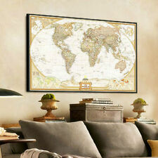 """Paper Vintage retro World Map Antique Poster Wall Chart Home Decor 28""""x18"""" Hot"""