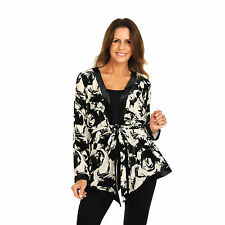 NEW PRINCESS CHARLOTTE BY CHARLIE BROWN Silk Velvet Black Floral Jacket - 10