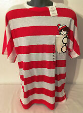 Wheres Waldo T Shirt Mens Womens Size XLarge Red White New Tee XL