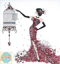 Cross Stitch Kit ~ Design Works Birdcage Fashion Woman in Elegant Dress #DW2754