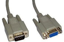 9 Pin Serial RS232 Extension Cable Com Male to Female Lead rs 232 extender 2m