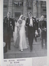 Photo article Spain marriage Infanta Dona Beatriz to Prince Civitella Cesi 1935