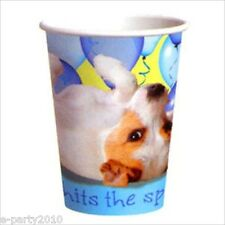 PUPPY PARTY 9oz PAPER CUPS (8) ~ Dogs Pet Birthday Supplies Beverage Drinking