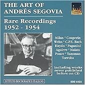 Various Composers : The Art of Segovia - Recordings 1952-4 CD (2004)
