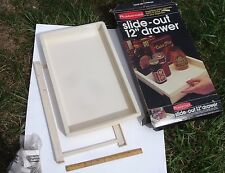 "1981 Rubbermaid Slide-Out 12"" Drawer for Base Cabinets Vintage 19"" long Almond"