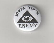 Know Your Enemy n. 1 Button anti nWo/immagini Berger/illuminati/New World Order