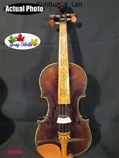 "Strad style SONG concert inlay art left-handed ""Acoustic/electric"" violin 4/4"