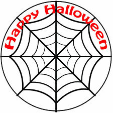 "Halloween Spider Web Cake Topper - Easy Pre-cut Round 8"" (20cm) Icing Decoration"