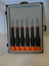 PRECISION SCREW DRIVER SET PHILIPS & SLOTTED 6PCE 105MM
