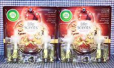 4 Refills AirWick Life Scents SPICED APPLE CRUMBLE Vanilla Scented Oil (2 Packs)