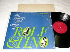 "Rolf & Tino ""The Guitars and Voices of.."" 1960's Latin/Pop LP, VG, Mono, Bermuda"