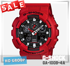 G-SHOCK BRAND NEW WITH TAG GA-100B-4A  RED Resin Analog Digital X Large Watch