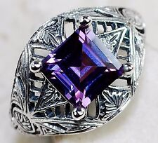 1CT Color Changing Alexandrite 925 Solid Sterling Silver Ring Sz 7, F3-9