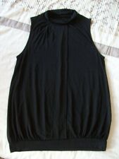 Next Size 10 Black Sleeveless Top, High Neck, formal, business style