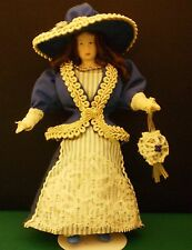 PORCELAIN VICTORIAN OR EDWARDIAN DRESSED DOLL 1:12 HANDMADE HANDPAINTED NEW L02