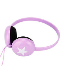 Small Boys Girls Kids Childs Lightweight Star Headphones Earphones PC MP3 Purple