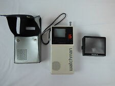 Vintage Late 70s Black & White Sony Watchman Portable Personal TV FD-20A