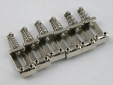 Vintage NICKEL PLATED BENT STEEL BRIDGE SADDLES for Stratocaster Tremolo Bridge
