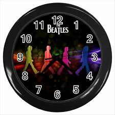 NEW* HOT THE BEATLES Black Wall Clock Decor Gift