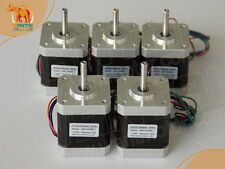 Wantai 5PCS Nema17 Stepper Motor 42BYGHM810 0.9° 4200g.cm 48mm 2.4A 3D Printer